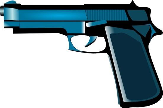 Blue Gun clip art