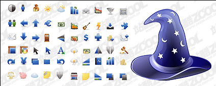 Blue icon main vector material