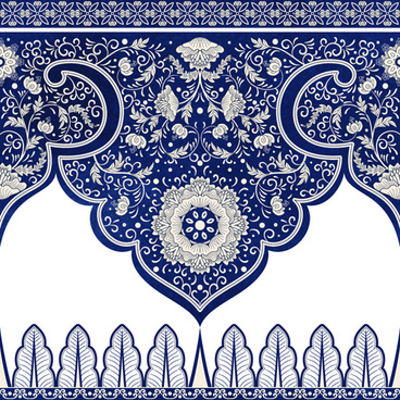 blue lace border vector