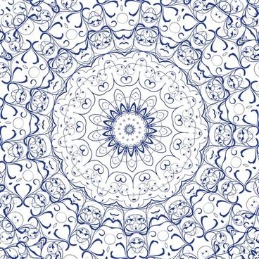 blue lace feminine
