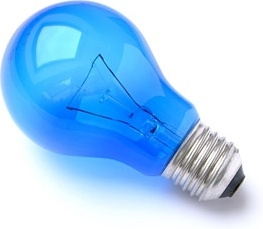 blue light bulb picture quality