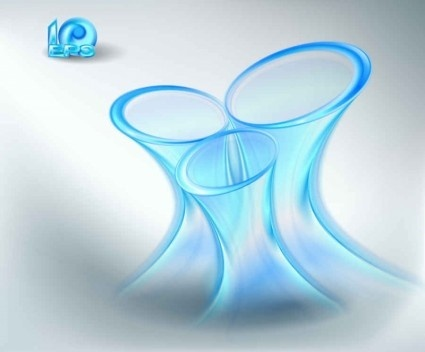 blue light effects background vector