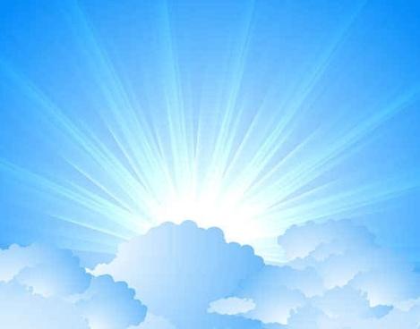 Blue light Sky background