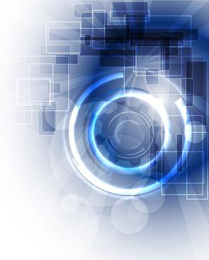 blue light tech background art vector
