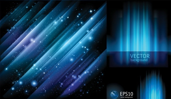 blue light vector background