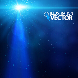 blue light vector background illustration