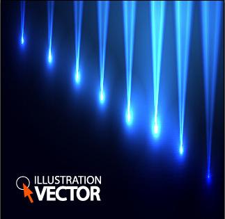 blue light vector background illustration