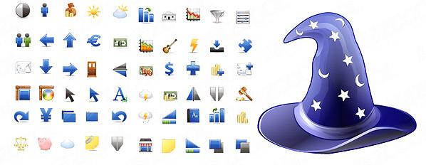 blue melody icon vector