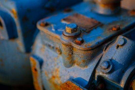 blue metal rust