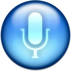 Blue microphone round sign