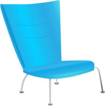 blue modern chair