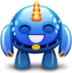 Blue monster happy