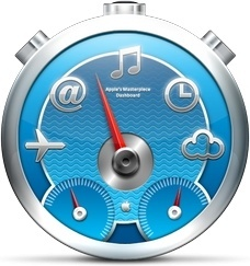 Blue multi functions clock