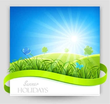 Blue Nature Vector Background