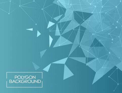 blue polygon abstract background