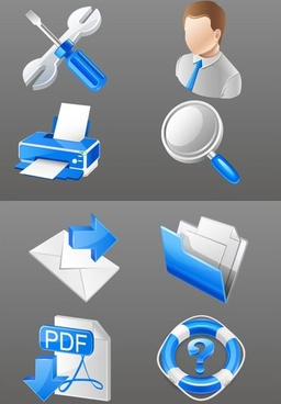 blue practical business icon vector
