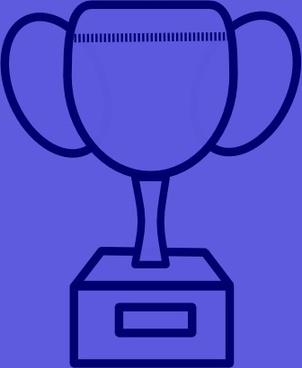 Blue Prize Cup clip art