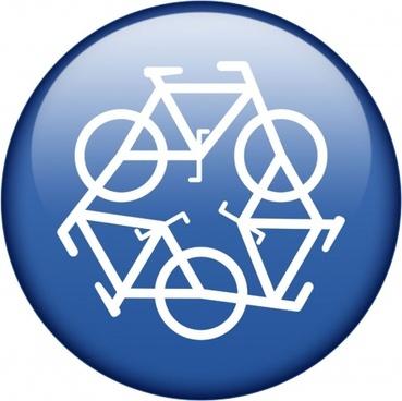blue recycling symbol