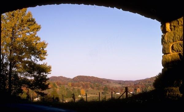 blue ridge mountains fall autumn