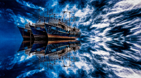 blue ships