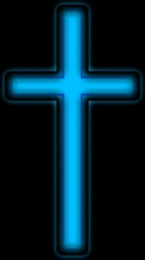 blue silver cross