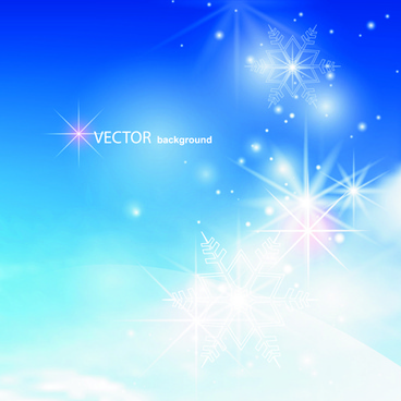 blue sky8 white cloud background vector