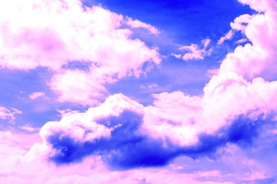 blue sky and pinkish clouds