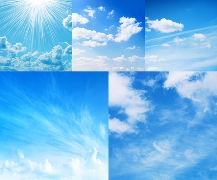 blue sky and white clouds highdefinition picture