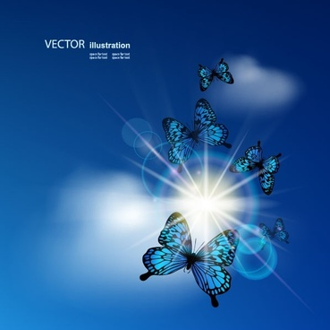 blue sky background 02 vector
