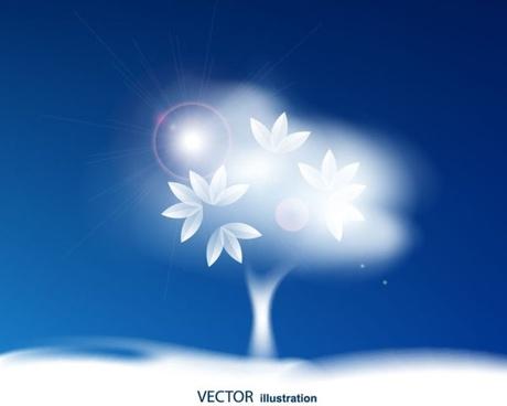 blue sky background 03 vector