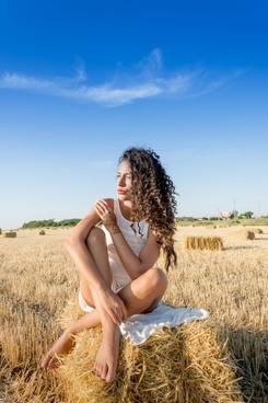 blue sky countryside enjoyment field freedom fun
