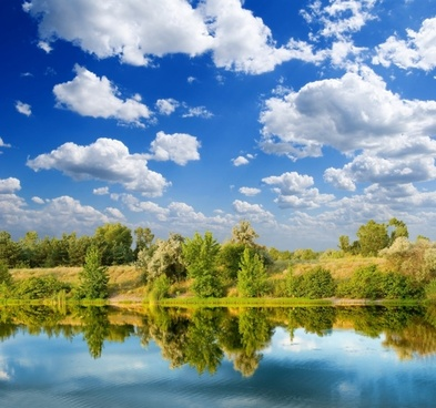 blue sky lakes and woods highdefinition picture
