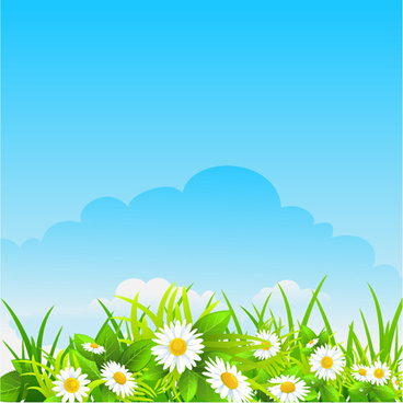 blue sky with nature vector background vector