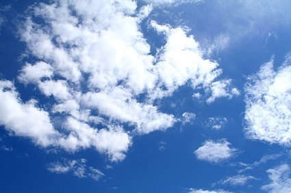 blue sky with white clouds picture 2