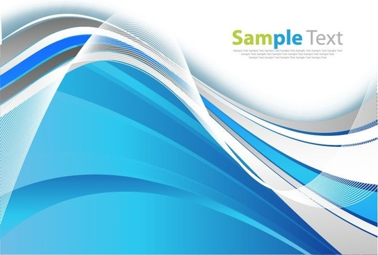 blue smooth wave abstract background vector graphic