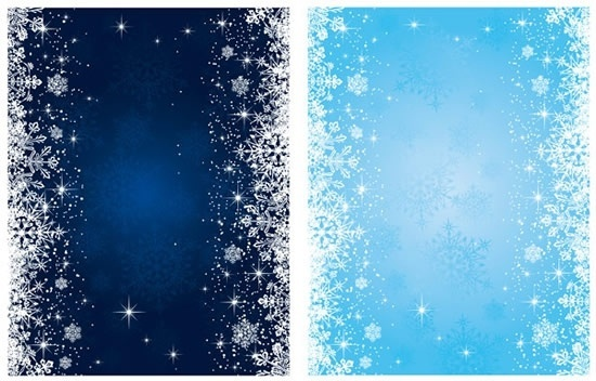 snowflakes background sparkling bright dark blue decor