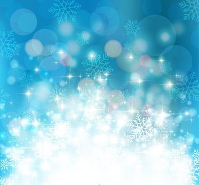 blue snowflake christmas atmosphere background vector