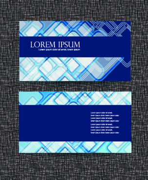 blue style business cards design vector