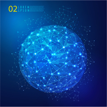 blue style global network business background