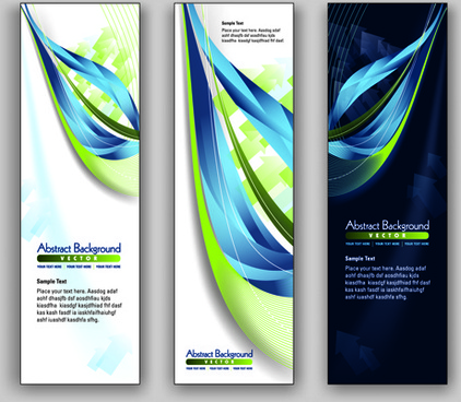 blue style vertical banner vector