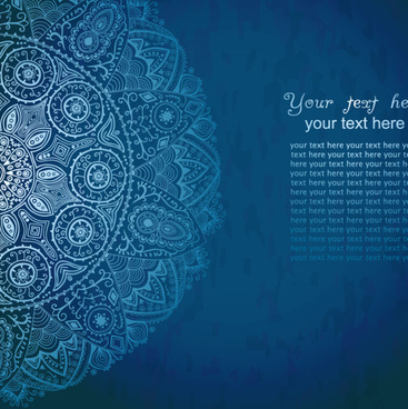 blue style vintage lace vector background