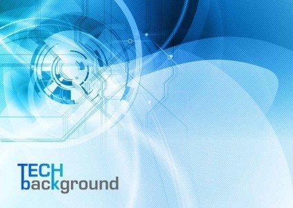blue styles tech background vector