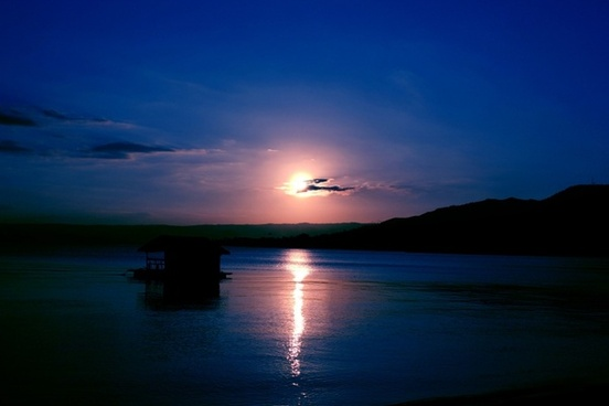 blue sunset background