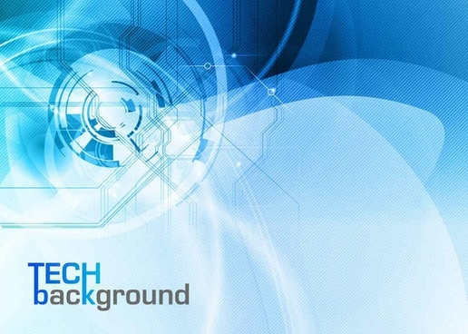 blue trend of dynamic vector background