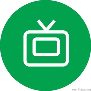 blue tv icon vector