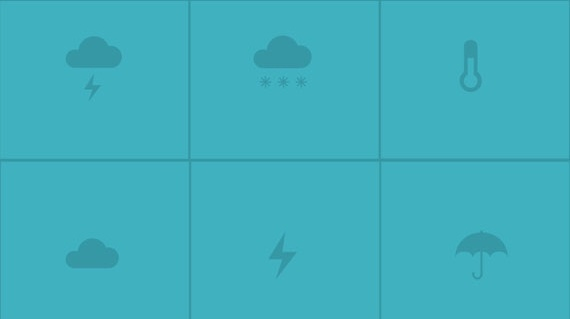 Blue Vector Weather Icon Pack