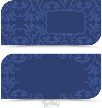 blue vintage cards in victorian style
