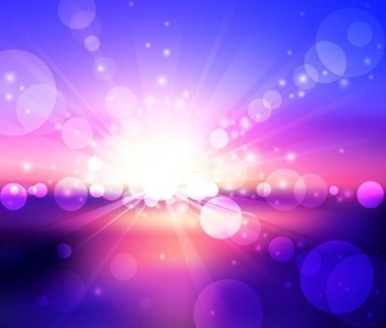 blue violet bokeh abstract light background vector illustration