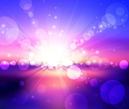 blue violet bokeh abstract light background vector illustration