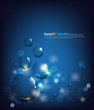 droplets background blue bokeh design